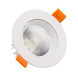 7W COB LED Round White...