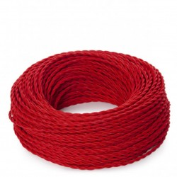 Red Fabric Twisted Electric...